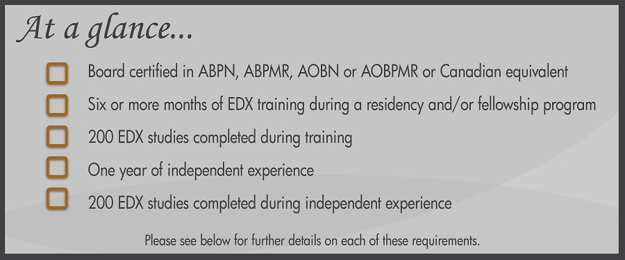 Requirements For Eligibility American Board Of Electrodiagnostic
